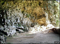 Cave where remains were found (Science Photo Library)