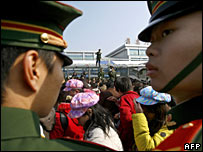 Chinese soldiers in Guangzhou, file image