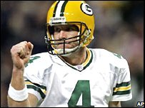 Green Bay Packers star Brett Favre
