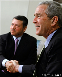 King Abdullah and George Bush at the White House (4 March 2008)
