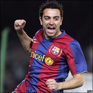 Xavi gives Barcelona an early lead