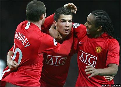 Ronaldo celebrates his goal