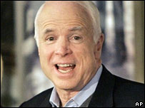 John McCain in Houston, Texas, 4 March 2008