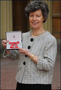 Joyce Smith with her MBE