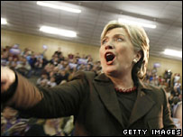 Hillary celebrates primary results 4-2-2008