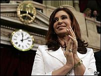 Cristina Fernández de Kirchner en el Parlamento argentino (01/03/08)