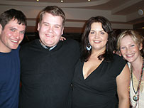 Mathew Horne, James Corden, Ruth Jones and Joanne Page from Gavin and Stacey