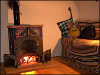 House interior with stove - Picture courtesy envisioneer.net