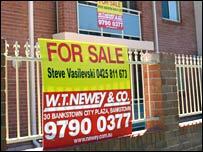 For sale sign, Sydney