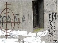 Muro con pintadas de ETA