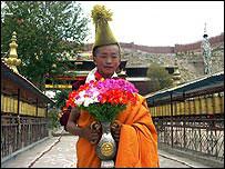 Young Tibetan monk Tsephun