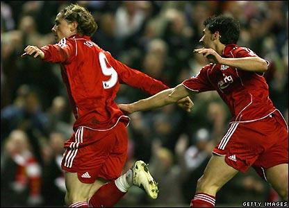 Torres celebrates his early goal