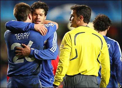 Chelsea celebrate victory