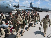US troops at Karshi-Khanabad Air Base, Uzbekistan - file photo from 27 April 2004
