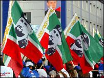 Рамзан Кадыров на флагах