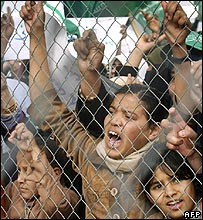 Children at Rafah border