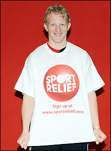 Liverpool's Dutch striker Dirk Kuyt is a big supporter of Sport Relief