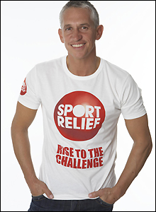 English football legend Gary Lineker backs Sport Relief