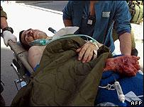 Injured Israeli sodier evacuated from Gaza