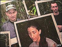 Fotos de colombianos secuestrados por las FARC