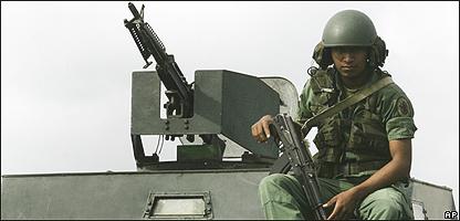 Tanque venezolano en la frontera con Colombia, AP