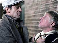 Jason Isaacs (right) with Phil Davies as Corbett and Brambell