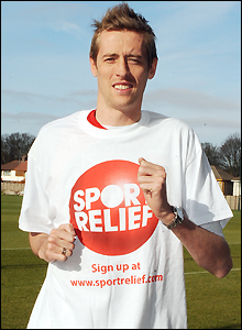 Peter Crouch backs Sport Relief