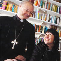 Bishop Carl Cooper and chaplain the Reverend Mandy Williams Potter (Library picture)