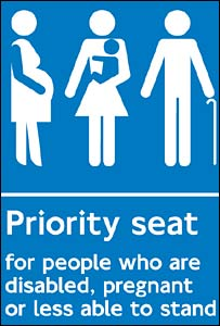 New Tube sign for priority seating for pregnant women