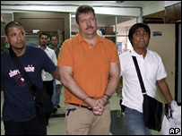 Viktor Bout is arrested by Thai police (6 March 2008)