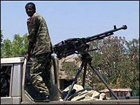 Man with gun in Baidoa