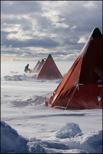 Tents on Mount Haddington. Image: BBC