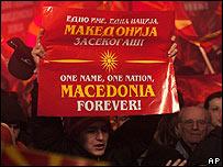 Manifestación nacionalista en Skopje para no ceder en la negociación con Grecia
