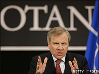 Jaap de Hoop Scheffer, secretario general de la OTAN