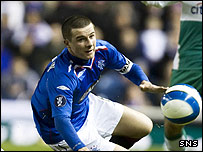 Barry Ferguson in action against Werder Bremen