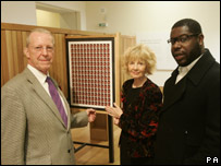 Roger and Maureen Bacon with the artist Steve McQueen