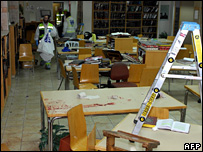 Scene inside the seminary's library (6 March 2008)