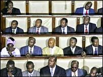 Members of parliament at its opening session on Thursday