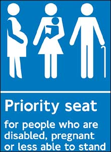 New priority seating signs depicting a pregnant woman will be put up on all ...