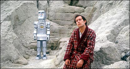Arthur Dent and Marvin the Paranoid Android