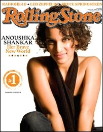 Anoushka Shankar on the cover of Rolling Stone