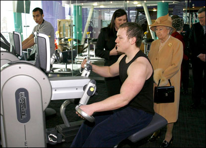 The Queen at the LC2 Sports Centre