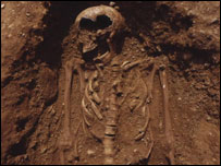 Skeleton of Anglo-Saxon girl