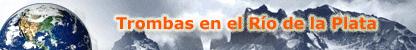 """Banner con el mensaje: """"Trombas en el Río de la Plata"""""""