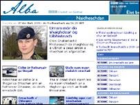 BBC Gaelic news website