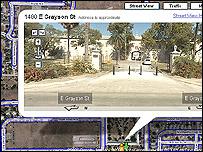 La entrada del Fuerte Sam en Google