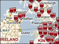 School Report interactive map