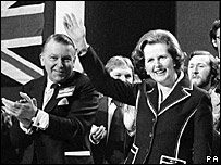 Lord Pym and Margaret Thatcher