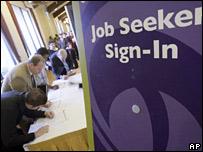 Personas en busca de trabajo en California
