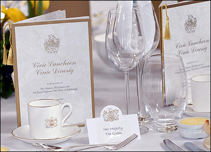Place settings for lunch